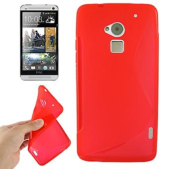 Mobile case TPU protective case for HTC One Max / T6 Red