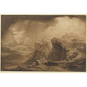 Joshua kommanderende solen å stå fremdeles på Gibeon (Joshua 10 12