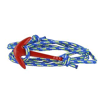 Vikings red-line anchor bracelet with blue-green-white nylon anchor in red
