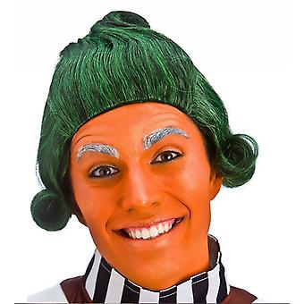 Wicked Unisex Green Short Funny Factory Worker Fancy Dress Wig