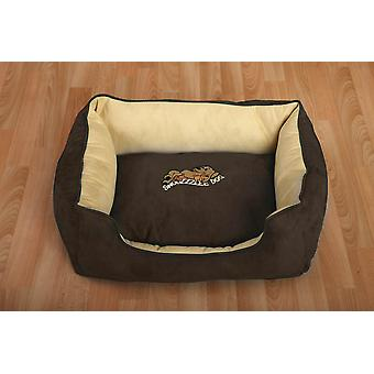 Snoozzzeee Dog Sofa Bed Brown 51cm