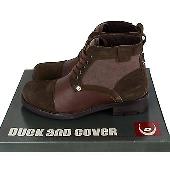 Duck and Cover Allingham Leather and Suede Mens Ankle Boots DAC19135 Brown