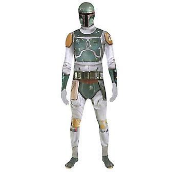 Star Wars Boba Fett vuxen Unisex Zapper Cosplay kostym Digital Morphsuit - Large - Multi färg (MLZBFL-L)