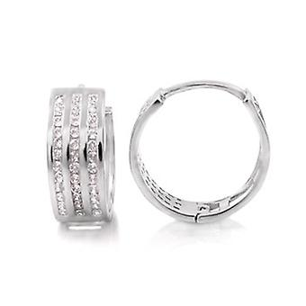 Sterling 925 Silver HOOP earrings - BLING KING 14 mm