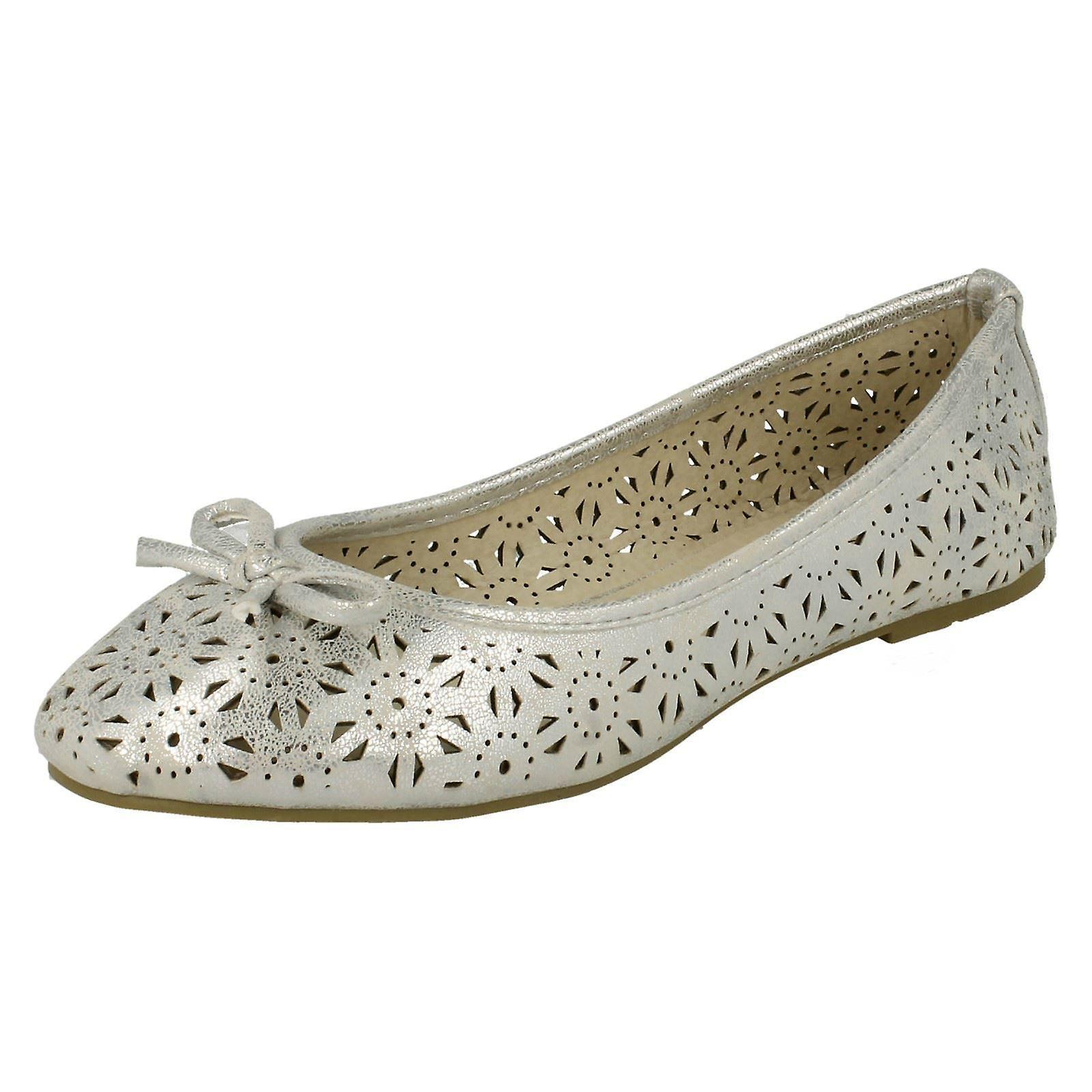 Damen-Spot auf Slip-On-Ballerina Schuhe F80037