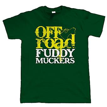 Fuddy Muckers Off Road, Mens Funny T-Shirt