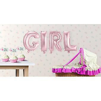 4 foil balloon set GIRL letter Garland pink 36 cm high