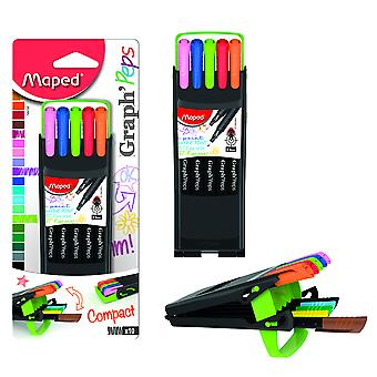 Maped Estuche Plegable 10 Rotulador Colores Mapel