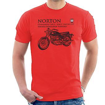 Haynes Besitzer Workshop manuelle Norton Commando 745CC 828CC Herren T-Shirt
