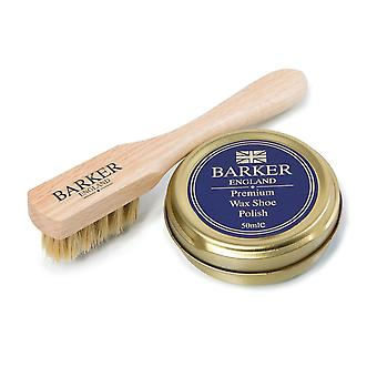 barker applicator brush and wax