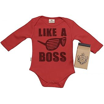 Spoilt Rotten Like A Boss Organic Babygrow In Gift Milk Carton