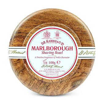 Sapone da barba D R Harris Marlborough & ciotola mogano 100g