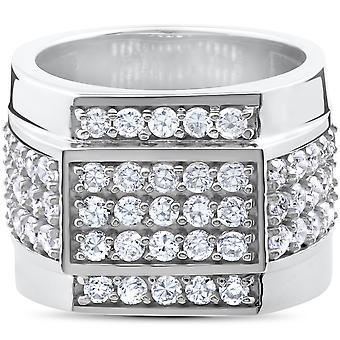 2 ct Mens Diamond Ring 10K witgoud