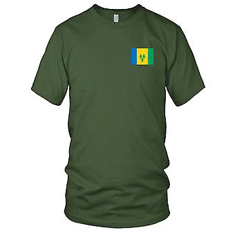 St. Vincent und die Grenadinen Land Nationalflagge - Stickerei Logo - 100 % Baumwolle T-Shirt Kinder T Shirt