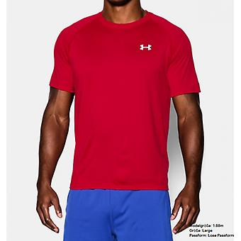 Under Armour tech short-sleeved tee men's Red 1228539-600