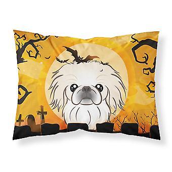 Halloween Pekingese Fabric Standard Pillowcase