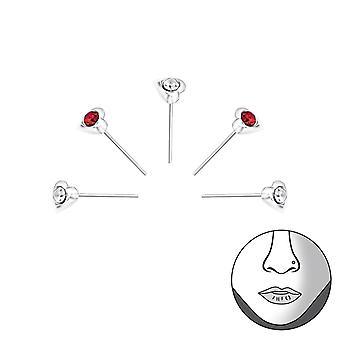 Heart - 925 Sterling Silver Nose Studs - W33344X