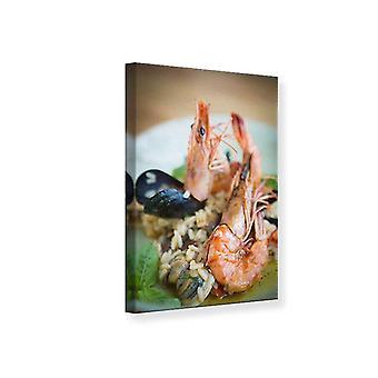 Lærred Print Seafood