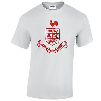 Airdrieonians Core Logo T-Shirt (White)