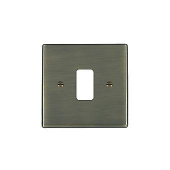 Hamilton Litestat Hartland antik messing 1g Apert Gridfix plade + gitter