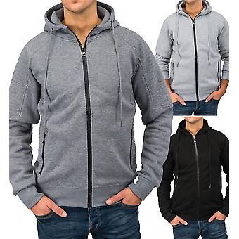 Mens sports sweat jacket BROAD Zip Hoodie sports jacket with hood fitness fashion
