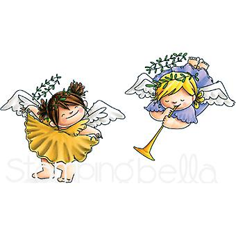 Stamping Bella Cling Stamps-Angel Squidgies Curtsy & Trumpet EB592
