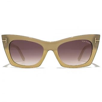 Tom Ford Kasia Sunglasses In Bronze