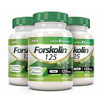 La forskoline 125 125 mg cápsulas - 90 cápsulas - quemador de grasa y acelerador del metabolismo - evolución adelgazar