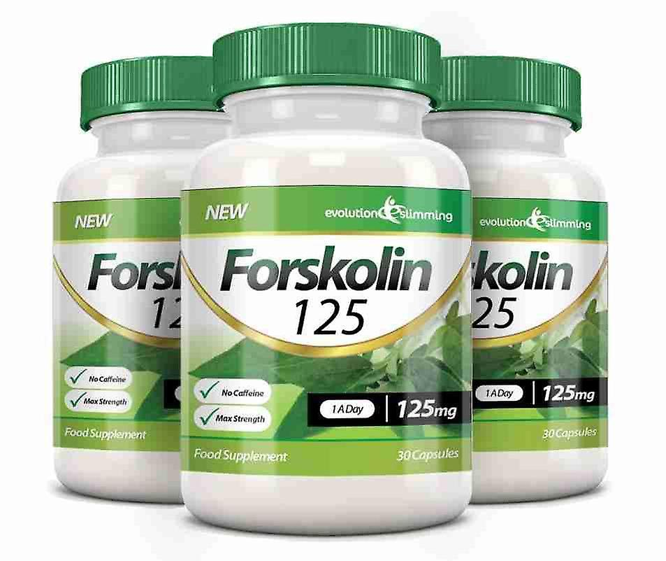 Forskolin 125 125mg Capsules - 90 Capsules - Fat Burner and Metabolism Booster - Evolution Slimming