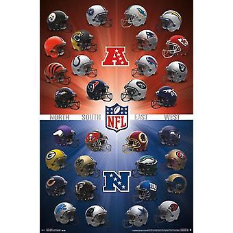 NFL - Helmets 16 Poster Print