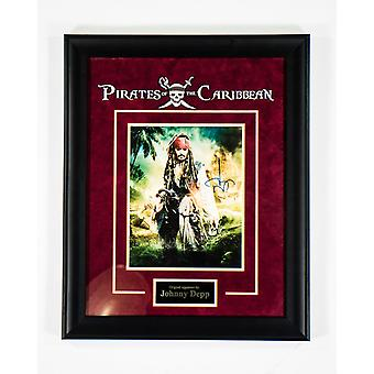 Pirates of the Caribbean - Signed by Johnny Depp - Framed Artist Series