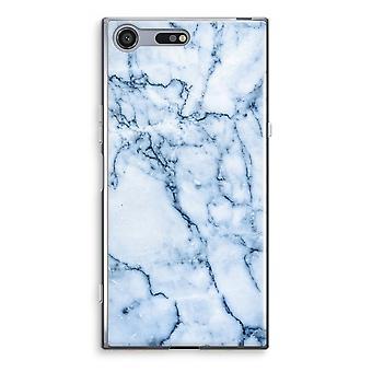 Sony Xperia XZ Premium Transparent Case (Soft) - Blue marble