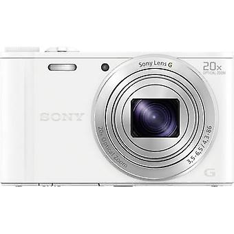 Digitalkamera Sony Cyber-Shot DSC-WX350W 18,2 MPix optischer Zoom: 20 x weiß Full HD-Video, Wi-Fi