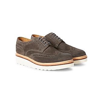 Grenson Archie V Brogue Shoe Grey