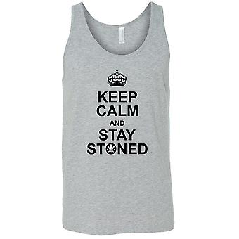 Men's Keep Calm & Stay Stoned Tank Top Shirt