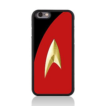Call Candy Apple iPhone 7 Film Collection Trekki Uniform 2D Printed Case-Red
