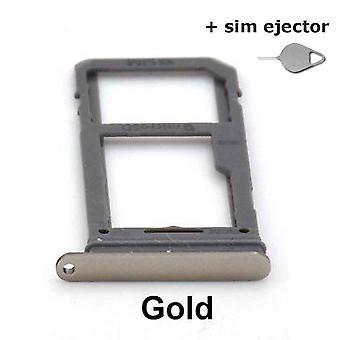 SIM-kortti/Micro SD pidikkeen Samsung Galaxy S8-gold + sim ejector