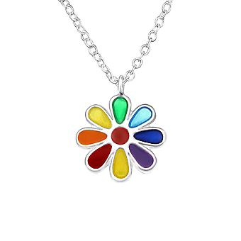 Flower - 925 Sterling Silver Necklaces - W24349x