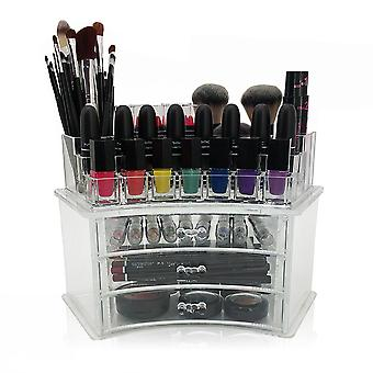 OnDisplay Laura Tiered Curved Acrylic Cosmetic/Jewelry Organizer