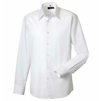 Russell Collection Long Sleeve Poly/Cotton Easycare Fitted Poplin Shirt