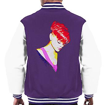 Rihanna With Red Hair Men's Varsity Jacket