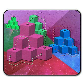 Cube Trendy Print  Non-Slip Mouse Mat Pad 24cm x 20cm | Wellcoda