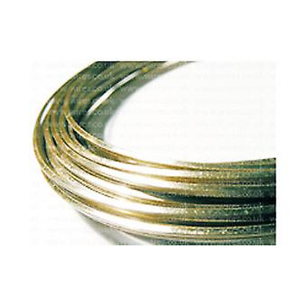 1 x Golden Plated Copper 0.8mm x 6m Square Craft Wire Coil WGSQ