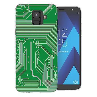 Samsung A6 (2018) groene printplaat TPU Gel geval