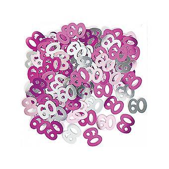Anniversaire Glitz Pink - 60e anniversaire Confetti