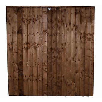 Forest Garden 6ft Pressure Treated Chestnut Brown Contractor Panel