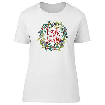 Fresh And Healthy Wreath Tee Women's -Image by Shutterstock