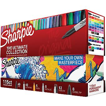 Sharpie Ultimate Pack Markers 115/Pkg-Ultimate, Assorted Colors & Tips