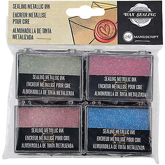 Metallic Ink Pad Set Of 4 Colors-