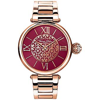 Thomas Sabo Womens Karma Rose Gold Tone Bracelet Red Sunray Dial WA0306-265-212